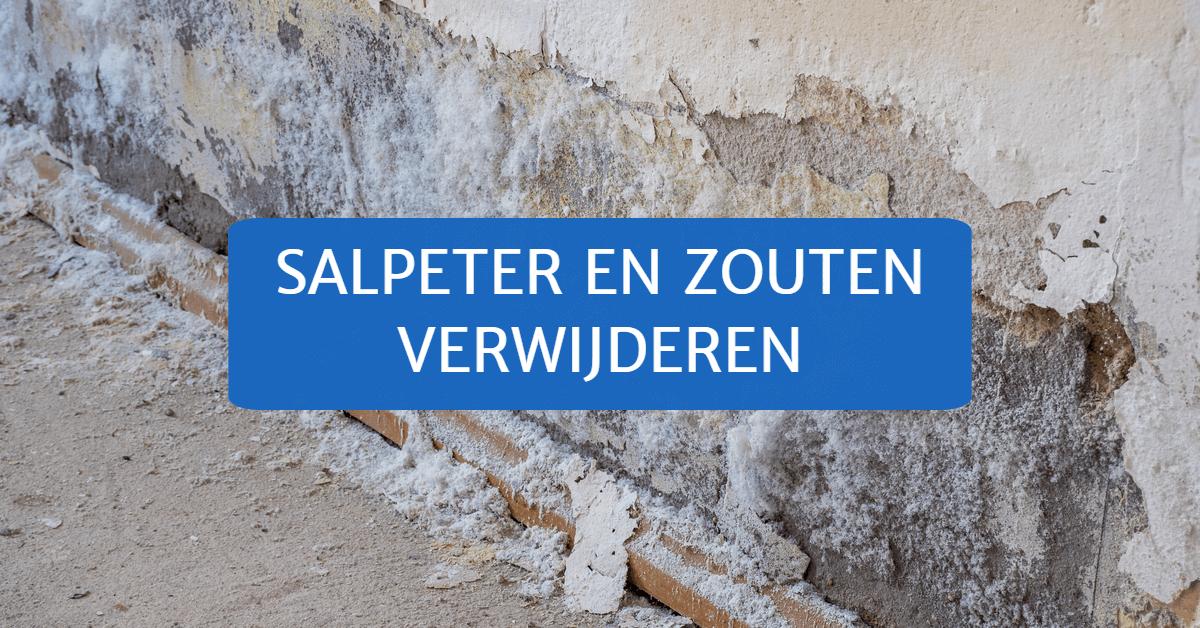 Salpeter en zouten verwijderen uit de muur