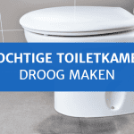 Vochtige toiletkamer droog maken