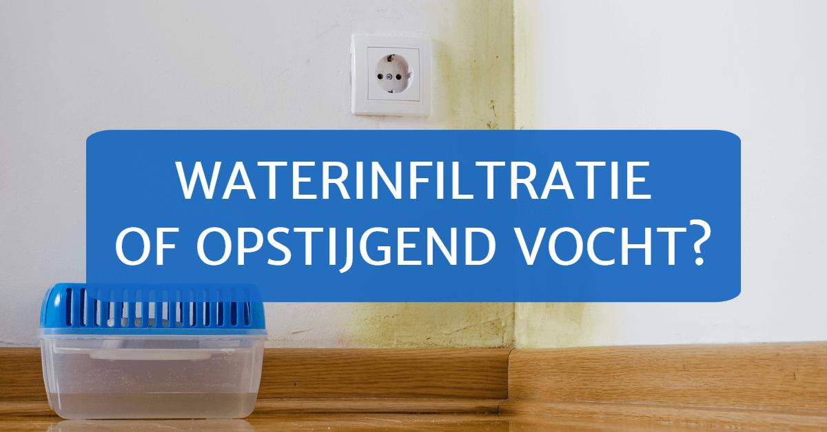 Waterinfiltratie of opstijgend vocht