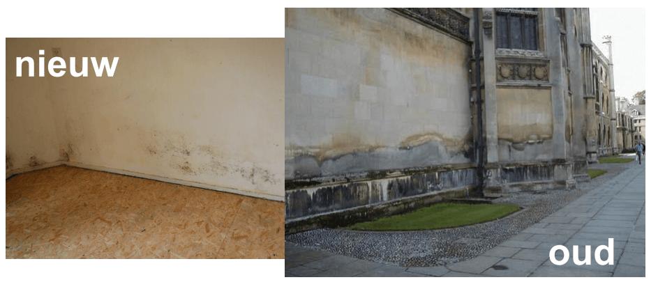 opstijgend vocht in nieuwbouw en in oude gebouwen