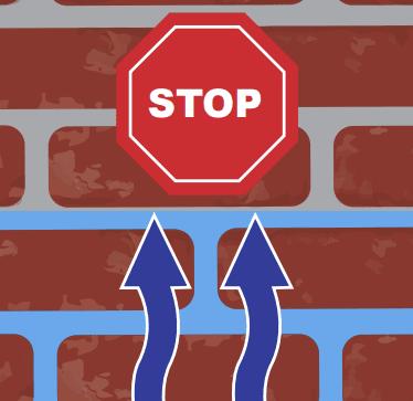 stop opstijgend vocht